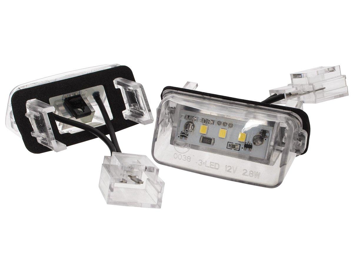 Citroen C3 C4 C5 C6 Berlingo Lampki Podświetlenia Tablicy Rejestracyjnej Led 2 Szt Kpl